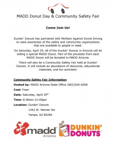 MADD Donut DayStateOfficeOnly April Flyer